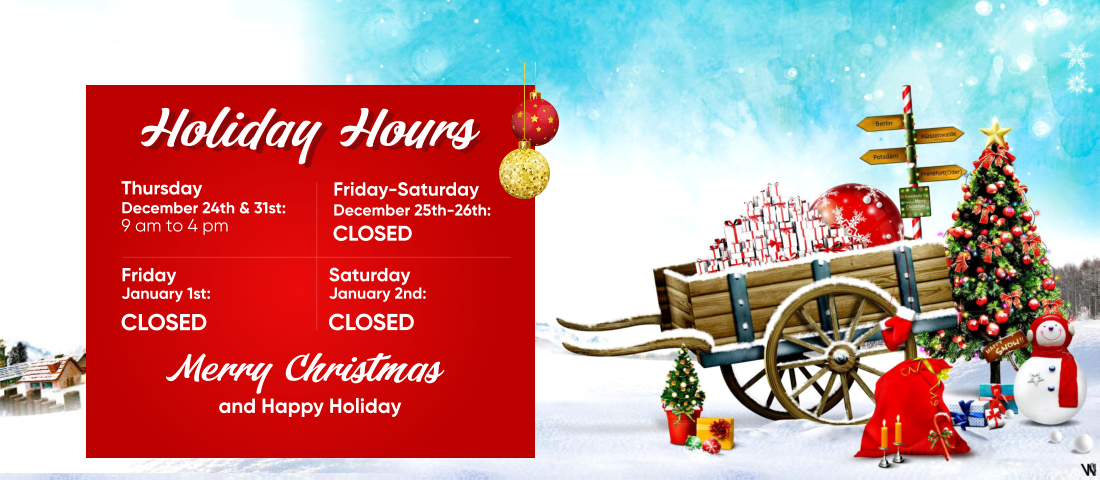 holiday hours schedule
